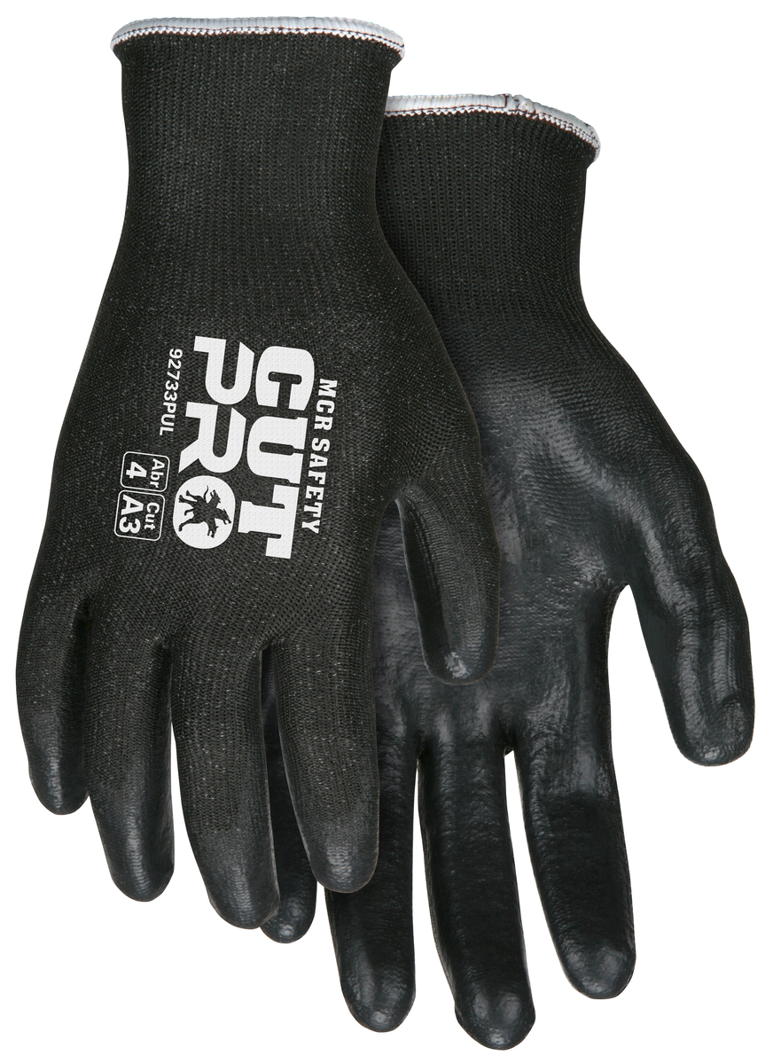 MCR Safety Cut Pro™ 13 Gauge HyperMax™ Shell PU Coated Palm and Fingertips