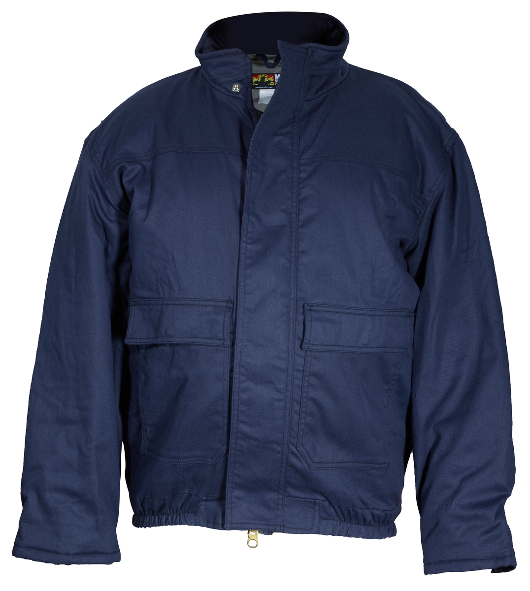 Flame Resistant (FR) Insulated Bomber Jacket, Max Comfort ™ Material, Modacrylic quilted lining, Navy