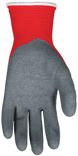 N9680 - Ninja® Flex ,15 Gauge Red Nylon Shell, Gray Latex Palm and Fingers