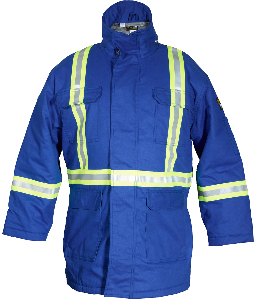 Flame Resistant (FR) Extreme Climate Insulated Parka, Max Comfort ™ Material, Modacrylic quilted lining with wind/vapor barrier.