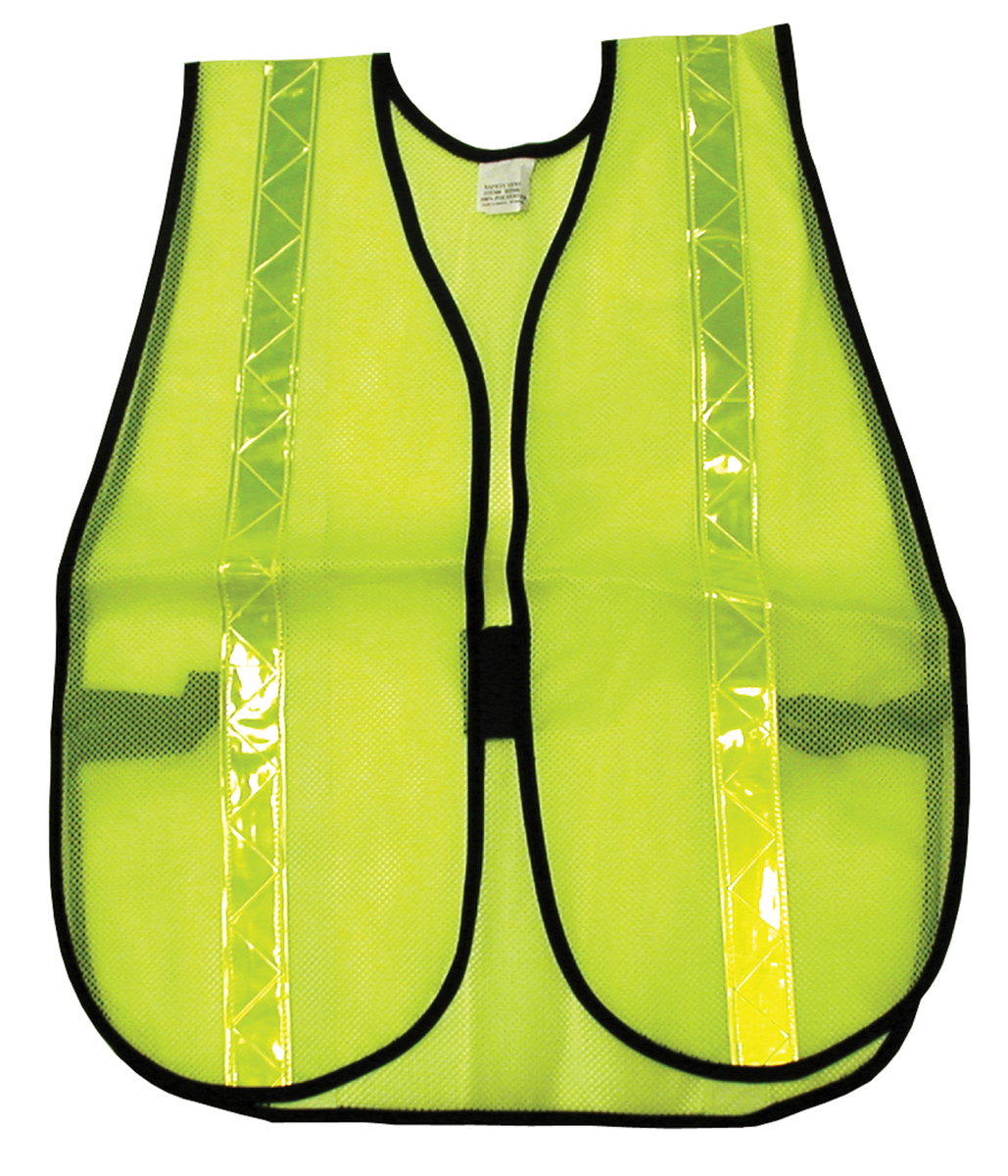 General Purpose Safety Vest, Polyester Mesh, 1 3/8