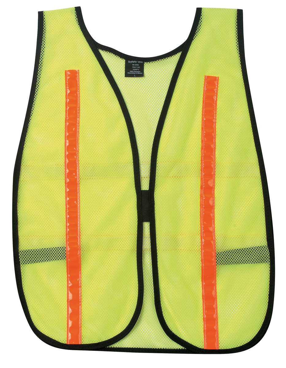 General Purpose Safety Vest, Polyester Mesh, 1