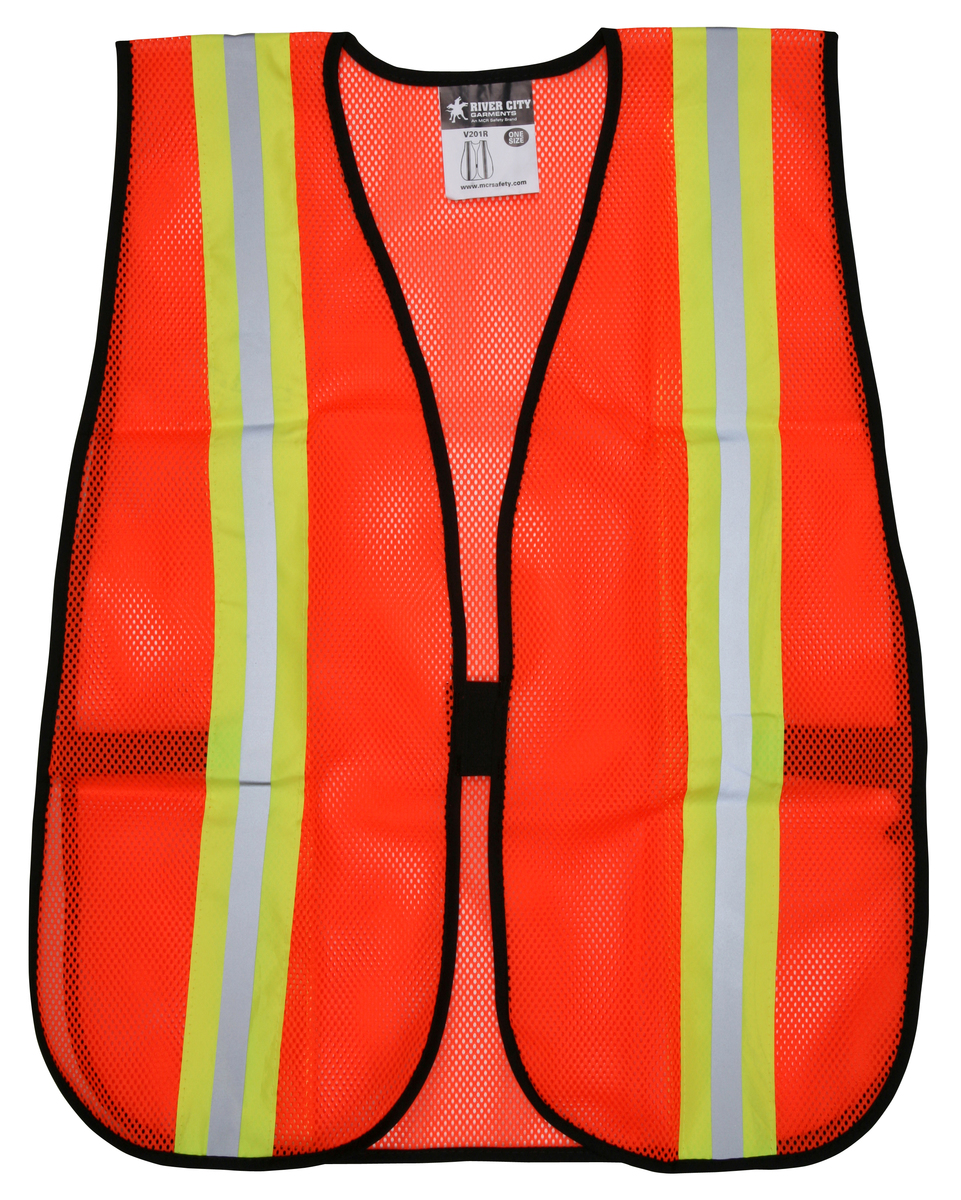 General Purpose Safety Vest, Polyester Mesh, 2