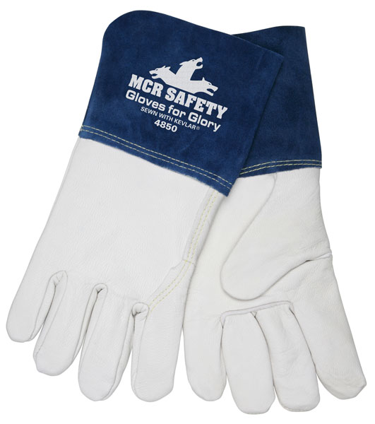 4850 - Gloves For Glory, Grain Goat Leather, Sewn with DuPont™ Kevlar®, 4.5