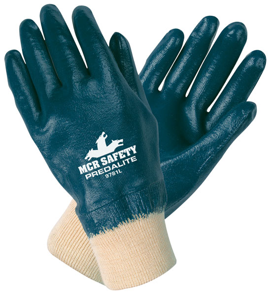 9781 - Predalite® fully coated nitrile, interlock liner, knit wrist