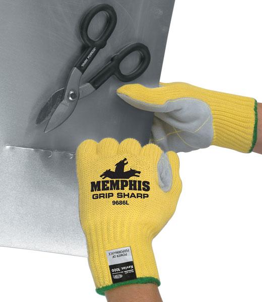 9686 - Memphis Grip Sharp™ 100% DuPont™ Kevlar® Brand Fiber Shell with Leather Palm