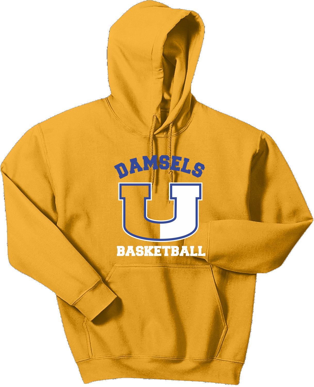 Union Girls Basketball Hoodie Gold