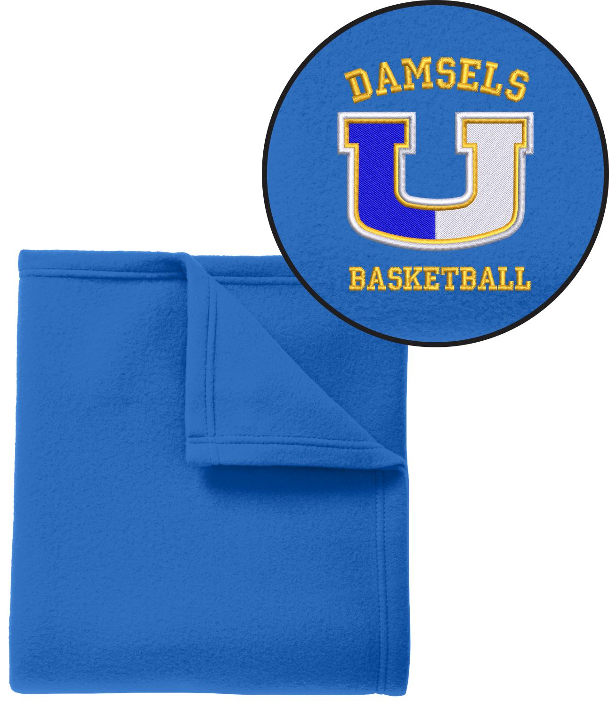 Union Girls Basketball Royal Blanket