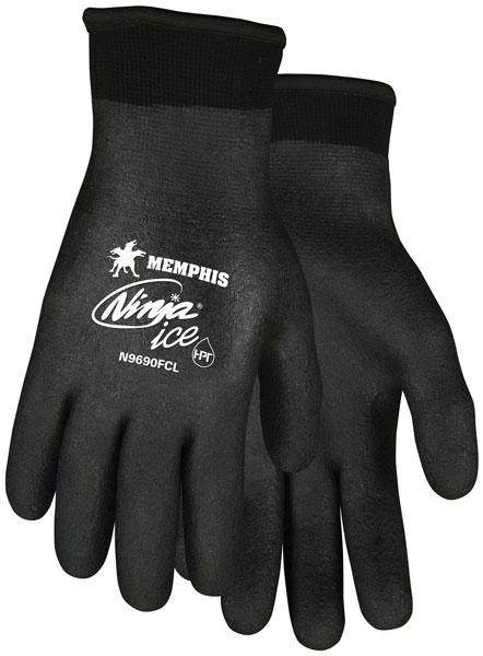 N9690FC - Ninja® Ice Fully Coated 15 Gauge black nylon, Acrylic terry inner, HPT fully coated